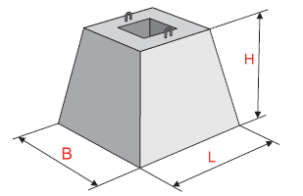 Фундамент для установки промежуточных опор линий электропередачи