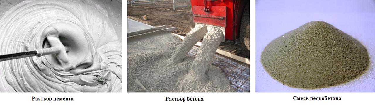 цемент, бетон, пескобетон