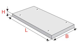 Плиты плоские для перекрытия подпольных каналов