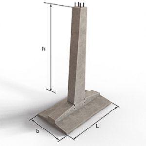 Фундамент составной промежуточной опоры - ФП