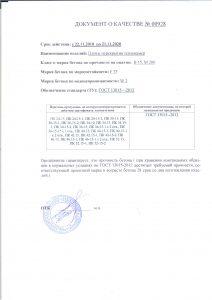 Паспорт качества плиты перекрытия теплокамер ПК