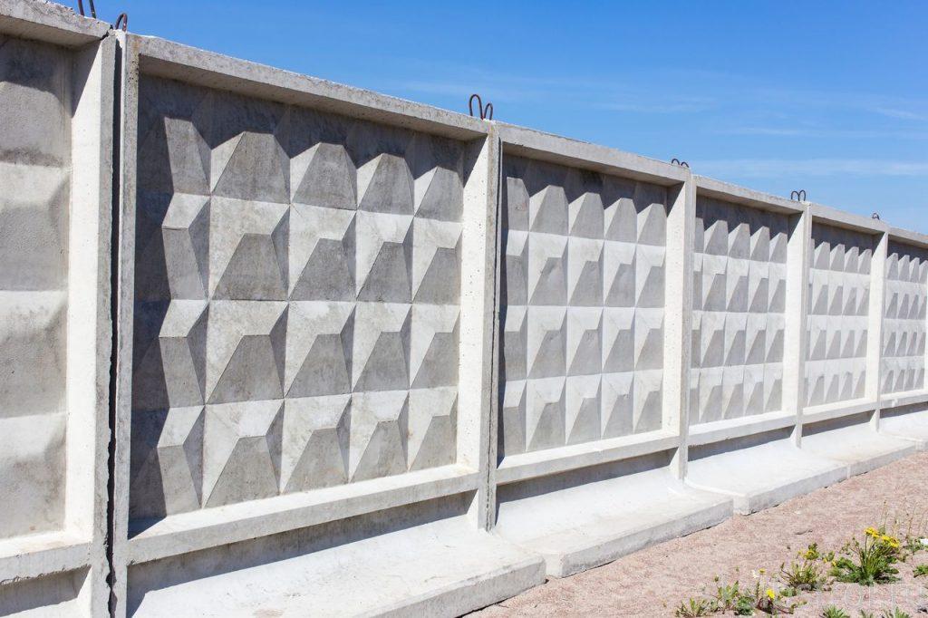 бетонный забор ПО